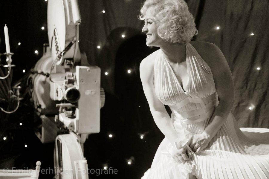 Marilyn Monroe look-a-like op feest ARX-ICT