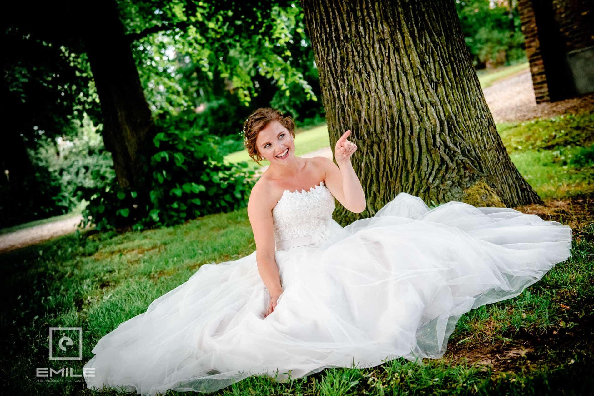 Bruid zit op de grond-  Kasteel Daelenbroeck - Herkenbosch