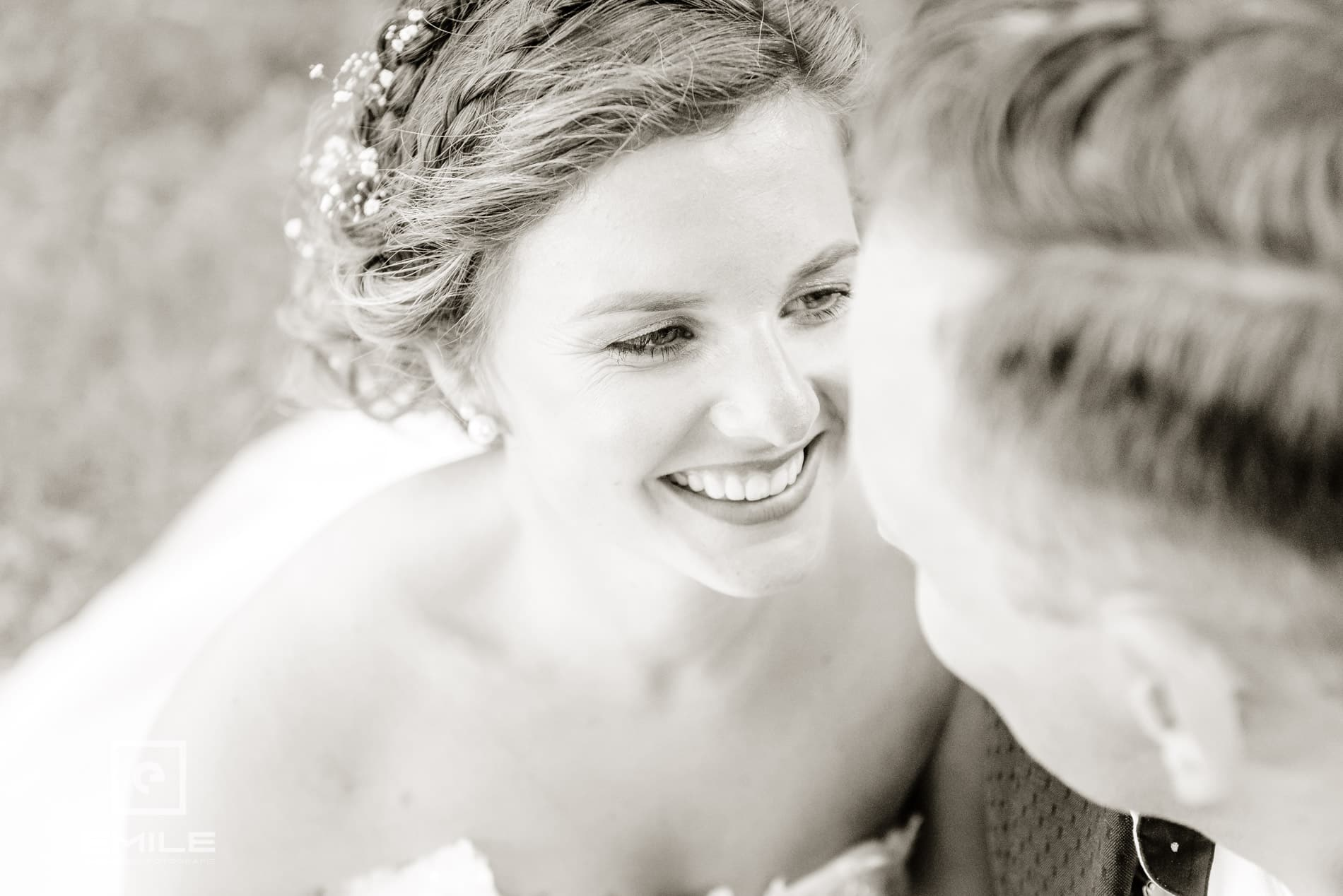 Close up van de bruid - Bruidsfotograaf Limburg - Kasteel Daelenbroeck - Herkenbosch