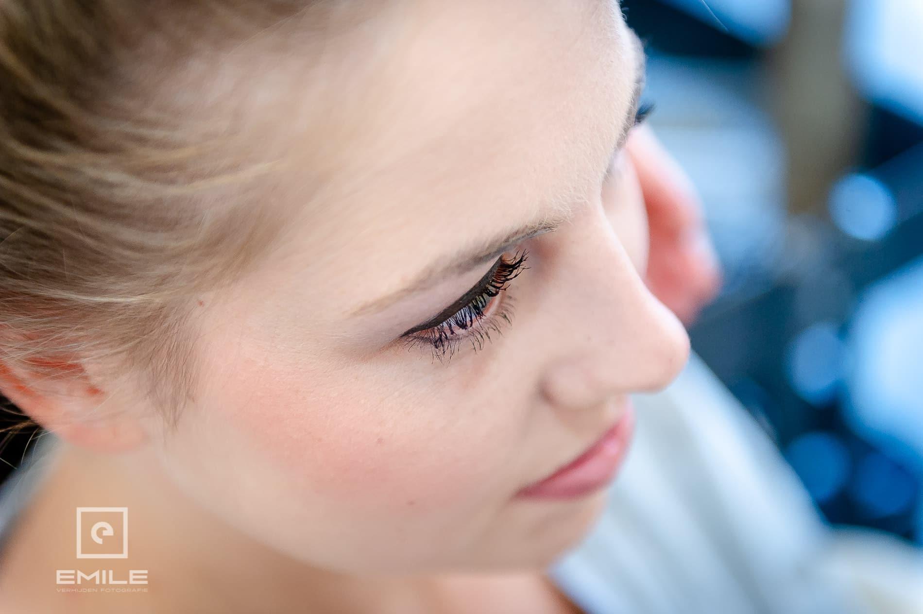 Close-up van gezicht van de bruid