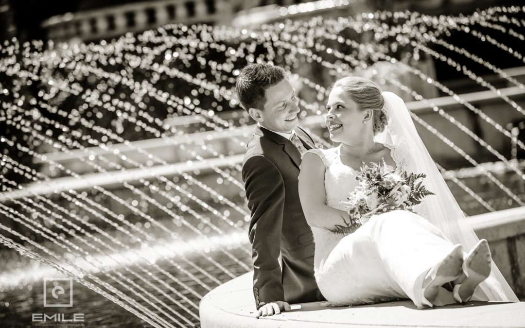 Bruidsfotograaf Venray bij Kasteeltuin Arcen