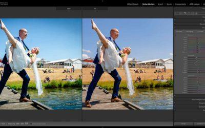 Voor en na foto vergelijken in Lightroom