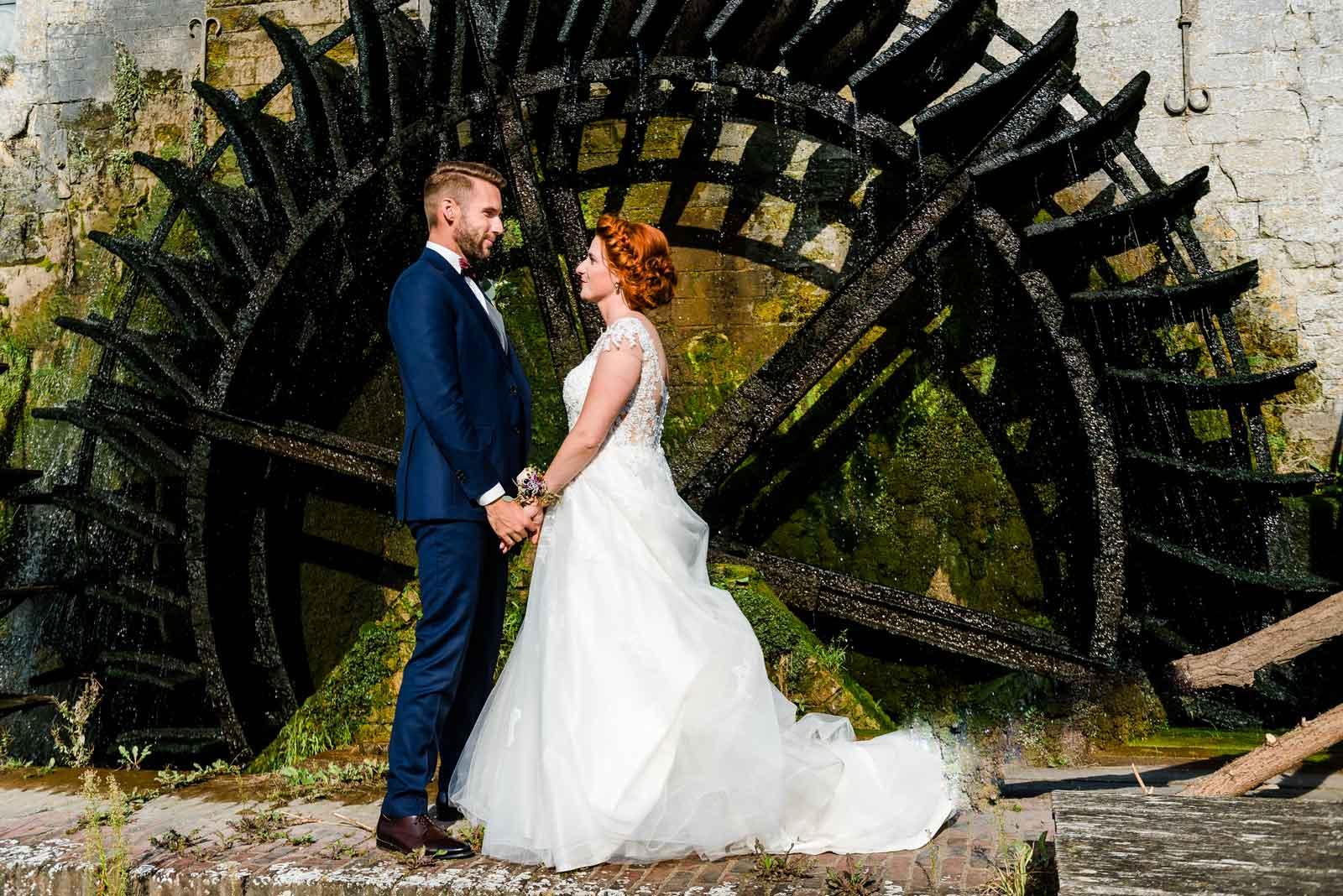 Pas getrouwd bij het waterrad